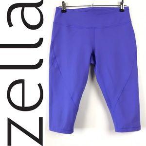 Zella Cropped Tights Long Biker Shorts Leggings M